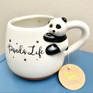Panda 3D cappuccino mug Rae Dunn style NWT